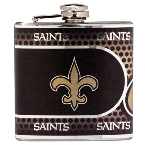 New Orleans Saints Hi-Def Stainless Steel Flask