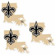 New Orleans Saints Home State Decal - 3 Pack