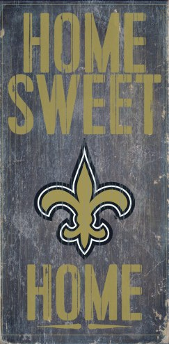 New Orleans Saints Home Sweet Home Wood Sign