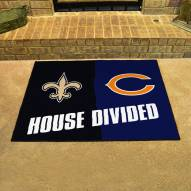 New Orleans Saints/Chicago Bears House Divided Mat