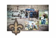 New Orleans Saints I Love My Family Clip Frame