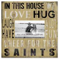 """New Orleans Saints In This House 10"""" x 10"""" Picture Frame"""