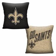 New Orleans Saints Invert Woven Pillow