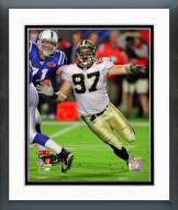 New Orleans Saints Jeff Charleston Super Bowl XLIV Action Framed Photo
