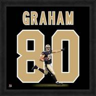 New Orleans Saints Jimmy Graham Uniframe Framed Jersey Photo
