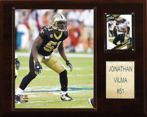 "New Orleans Saints Jonathan Vilma 12 x 15"" Player Plaque"