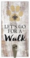 New Orleans Saints Leash Holder Sign