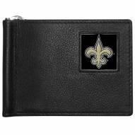 New Orleans Saints Leather Bill Clip Wallet