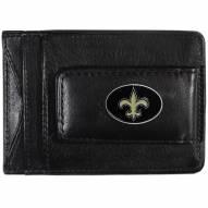 New Orleans Saints Leather Cash & Cardholder