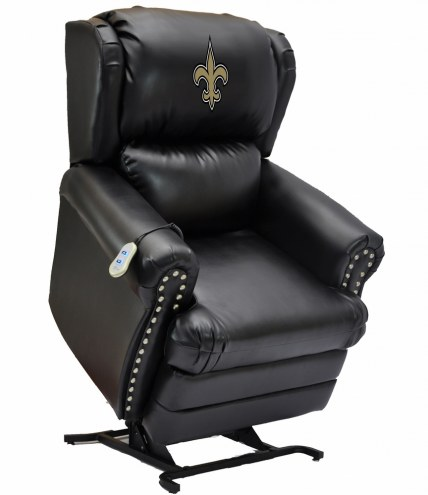 New Orleans Saints Leather Coach Lift Recliner