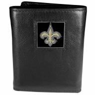 New Orleans Saints Leather Tri-fold Wallet