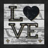 New Orleans Saints Love My Team Square Wall Decor