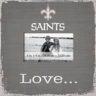 New Orleans Saints Love Picture Frame