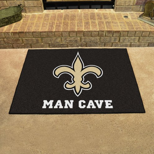 New Orleans Saints Man Cave All-Star Rug