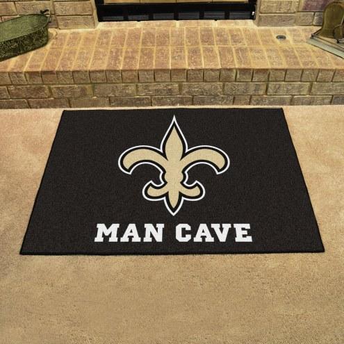 New Orleans Saints Man Cave All-Star Rug