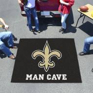 New Orleans Saints Man Cave Tailgate Mat