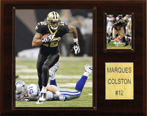 "New Orleans Saints Marques Colston 12 x 15"" Player Plaque"