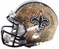 New Orleans Saints Mini Swarovski Crystal Football Helmet
