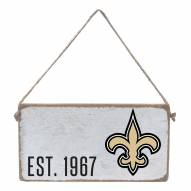 New Orleans Saints Mini Plank