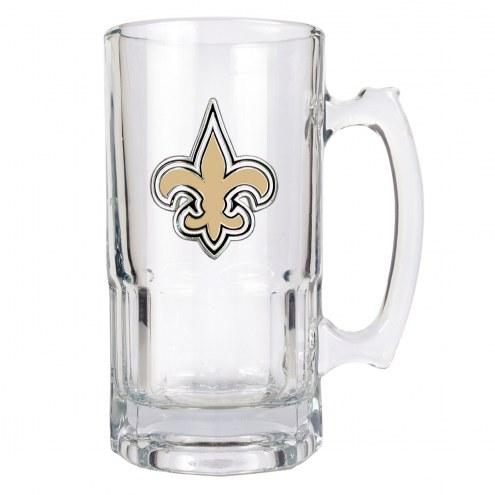 New Orleans Saints NFL 1 Liter Glass Macho Mug