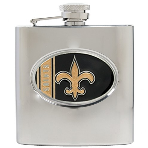 New Orleans Saints NFL 6 Oz. Stainless Steel Hip Flask