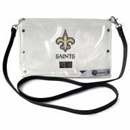 New Orleans Saints Clear Envelope Purse
