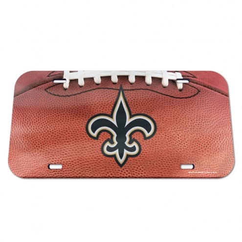 New Orleans Saints Crystal Mirror License Plate