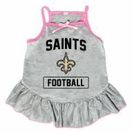 New Orleans Saints NFL Gray Dog Dress