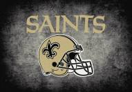 New Orleans Saints NFL Team Distressed Area Rug