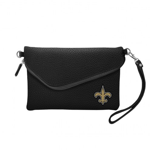 New Orleans Saints Pebble Fold Over Purse