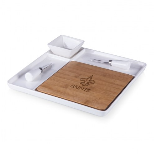 New Orleans Saints Peninsula Cutting Board Serving Tray