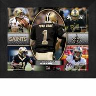 New Orleans Saints Personalized 11 x 14 Framed Action Collage