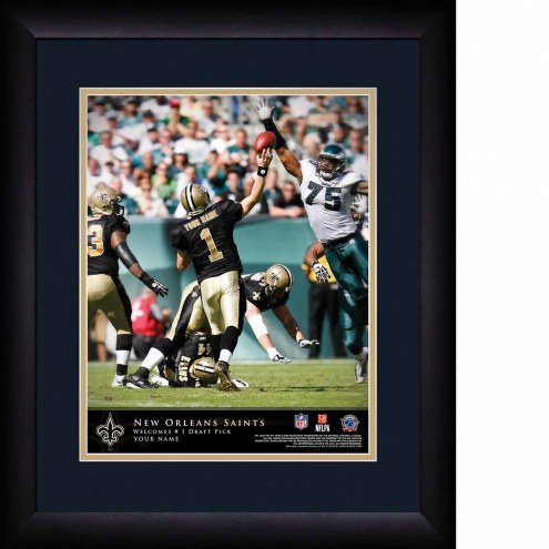 New Orleans Saints Personalized 13 x 16 NFL Action QB Framed Print