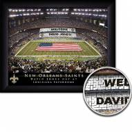 New Orleans Saints 11 x 14 Personalized Framed Stadium Print