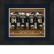 New Orleans Saints Personalized Locker Room 13 x 16 Framed Photograph