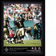 New Orleans Saints Personalized 11 x 14 NFL Action QB Framed Print