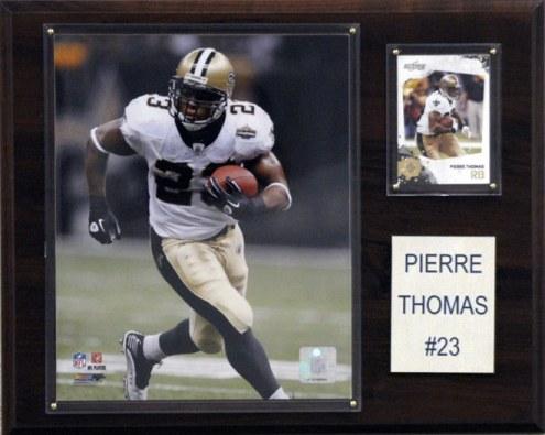 """New Orleans Saints Pierre Thomas 12 x 15"""" Player Plaque"""