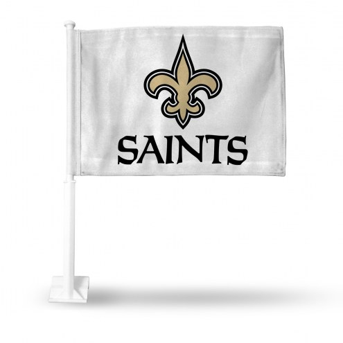 New Orleans Saints White Car Flag