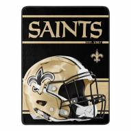 New Orleans Saints Run Raschel Blanket