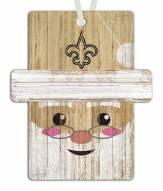 New Orleans Saints Santa Ornament