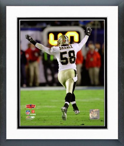 New Orleans Saints Scott Shanle Super Bowl XLIV Action Framed Photo