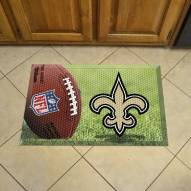 New Orleans Saints Scraper Door Mat