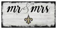 New Orleans Saints Script Mr. & Mrs. Sign