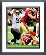 New Orleans Saints Sedrick Ellis 2008 Action Framed Photo