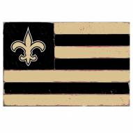 New Orleans Saints Small Flag Wall Art