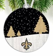 New Orleans Saints Snow Scene Ornament