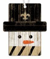 New Orleans Saints Snowman Ornament