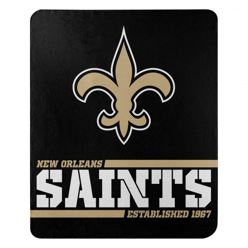 New Orleans Saints Split Wide Fleece Blanket