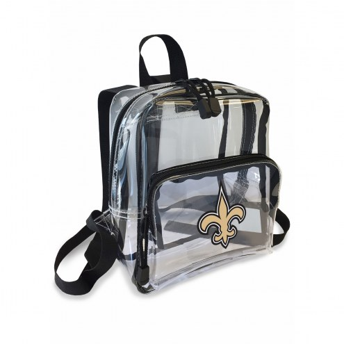 New Orleans Saints Stadium Friendly Clear Mini Backpack