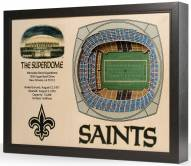 New Orleans Saints 25-Layer StadiumViews 3D Wall Art